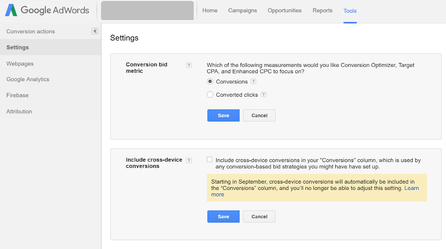 google-adwords-conversions-setting-converted-clicks