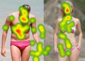 Source: 16 Heatmaps That Reveal Exactly Where People Look. Retrieved from http://www.businessinsider.com/eye-tracking-heatmaps-2012-5?op=1/#n-spend-more-time-looking-at-the-woman-while-women-read-the-rest-of-the-ad-1